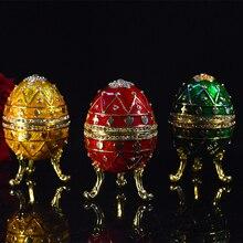 QIFU New arrive Russia popular qifu faberge egg home decoration metal crafts