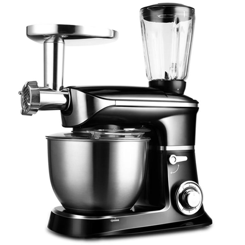 1300W 6.5L Meat Grinder Juicer Bread Mixer Eggs Blender 3 in 1 Kitchen Food Milkshake/Cake Mixer Kneading Machine Dough Maker