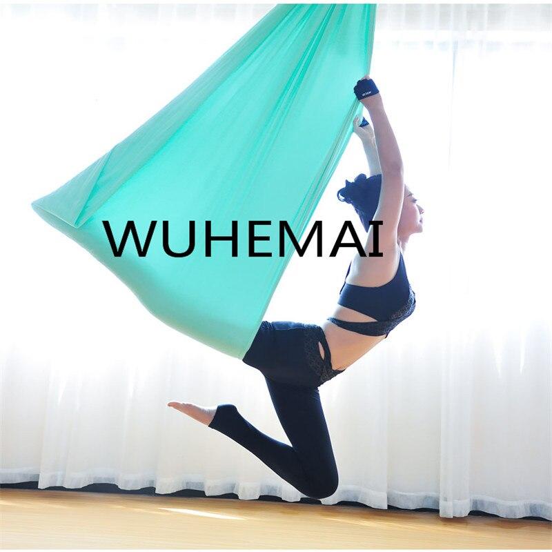 Wuhemai yoga hammock balanço tecido Aéreo Dispositivo de Tração de Vôo Anti-gravidade O cinto de elástico yoga yoga profissional salão