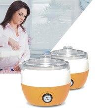 Machine à yaourt électrique revêtement en acier inoxydable Mini yaourtière automatique 1L capacité 220 V