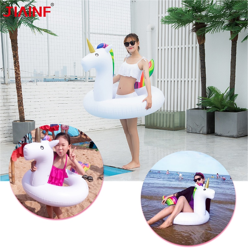 Hot Sale Inflatable Unicorn Swimming Circle Summer Float Ring for Adult Pool Water Sports Fun
