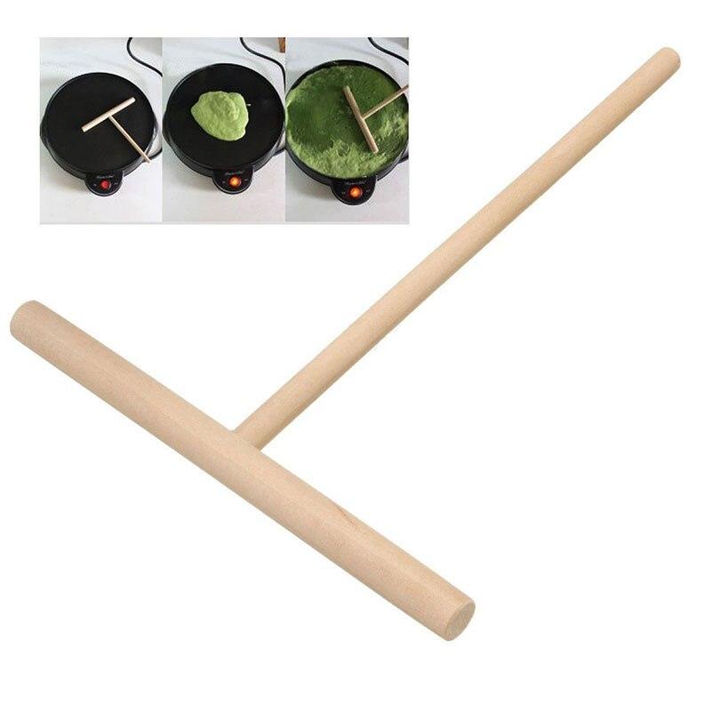 5Pcs Tragbare Home Küche Tool Kit DIY Verwenden Crepe Maker Pfannkuchen Teig Holz Treuer Stick #80588