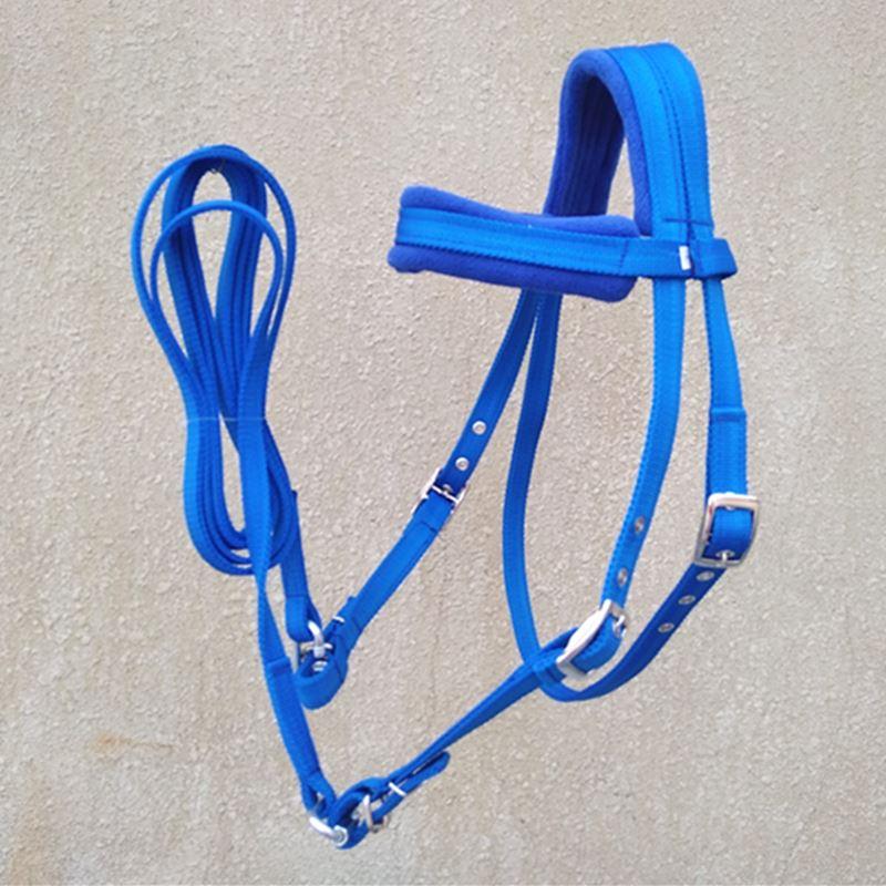 Регулируемая лошадь Узелок с Rein Red PP тесьма синяя Холтер оборудование|Недоуздки| |