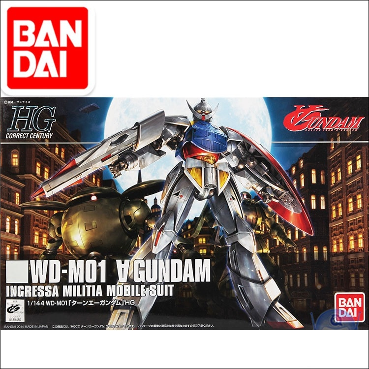Оригинальная модель Gundam HG 1/144 WD-M01 поверните мобильный костюм GUNDAM, ручная сборка, модель, экшн-фигурки