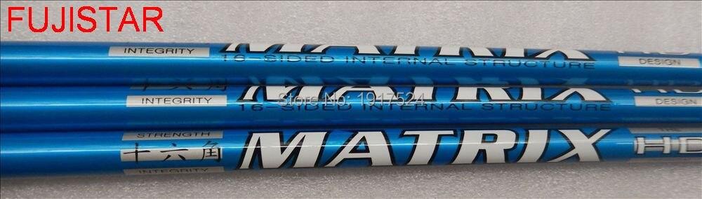 Fujistar golf matrix hd radix 4.1 grafite material golf driver eixo 16-sided 45 polegada comprimento 0.335 tamanho peso leve 50gms