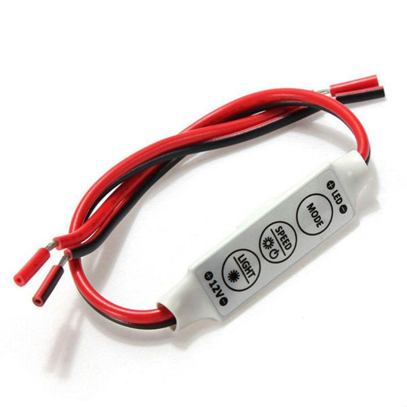 Controlador regulador LED para 3528 5050 tira de LED de un solo Color para coche DC12V