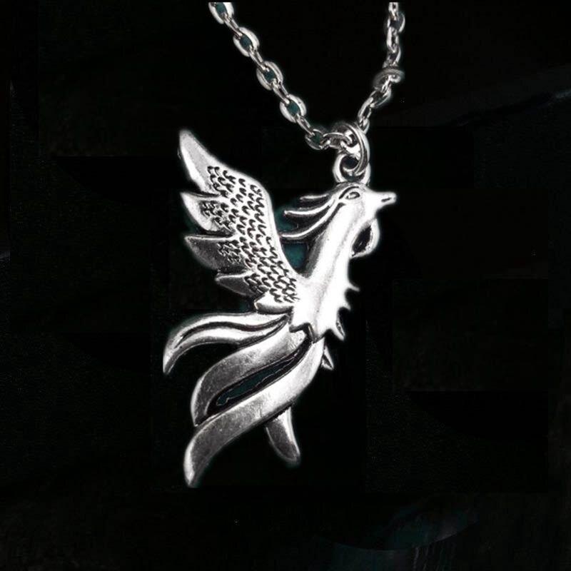 12 pçs/lote Phoenix Colar Pingente Phoenix Fantasia Colar Do Monograma Colar Phoenix Colar de Charme