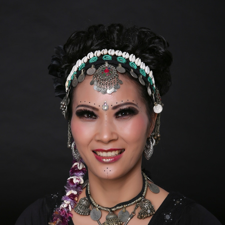 Frauen Ats Tribal Bauchtanz Stirnbänder Zubehör Vintage Nationalen Schmuck Frauen Kopfstück Gypsy Kopf Ketten Dance Stirnbänder