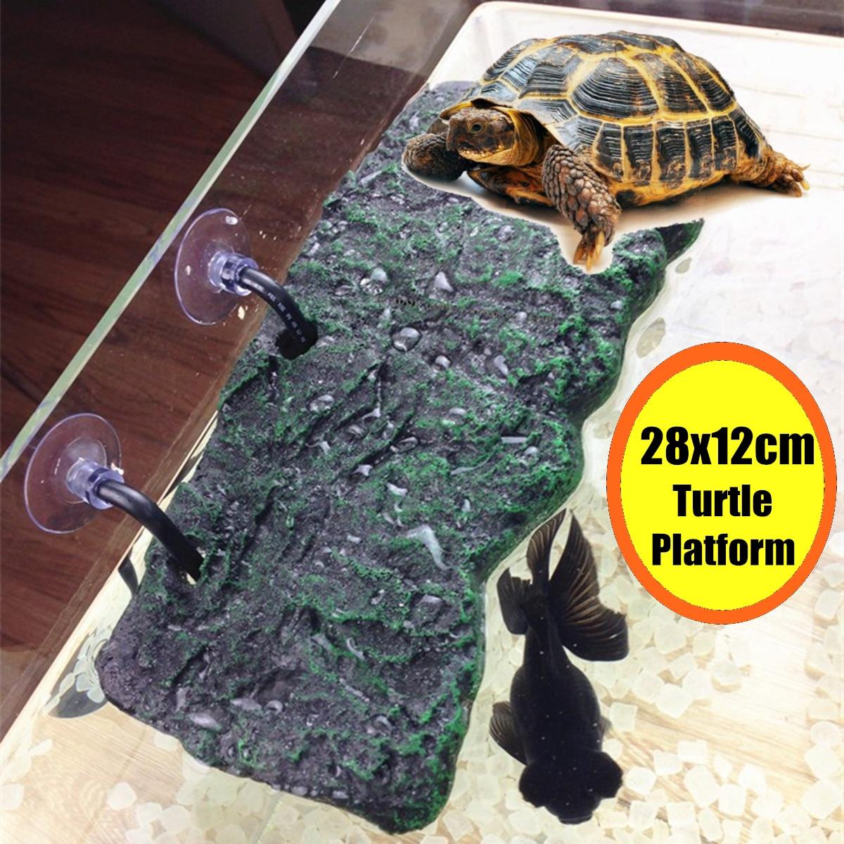 Répteis tanque de aquário plataforma flutuante doca tartaruga pier basking terraço ilha suporte répteis aquáticas pet terrarium decoração