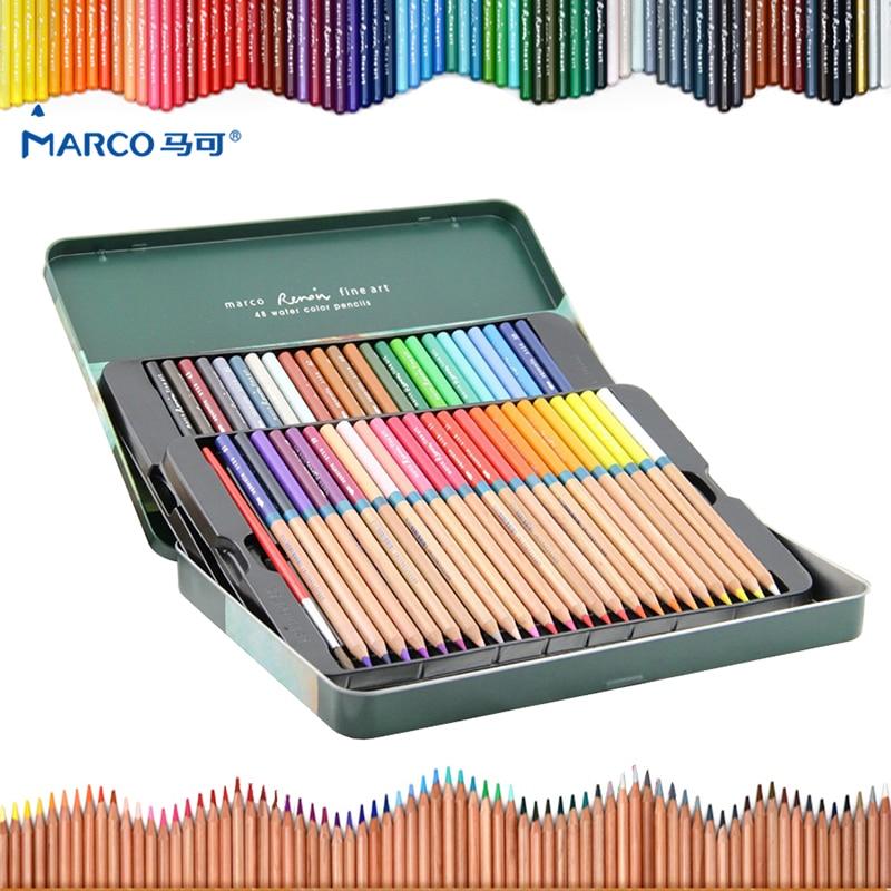Marco 24/36/48/72 color/set Watercolor colored pencil Professional Drawing pencils school pencils lapices de color Art supplies