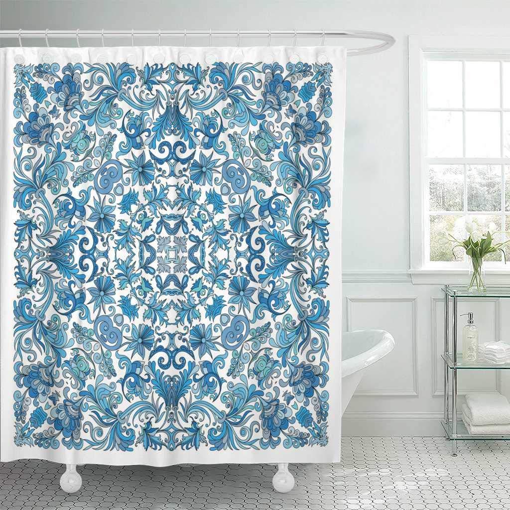 Занавески для душа Ванная комната занавес красочный декоративный цветочный