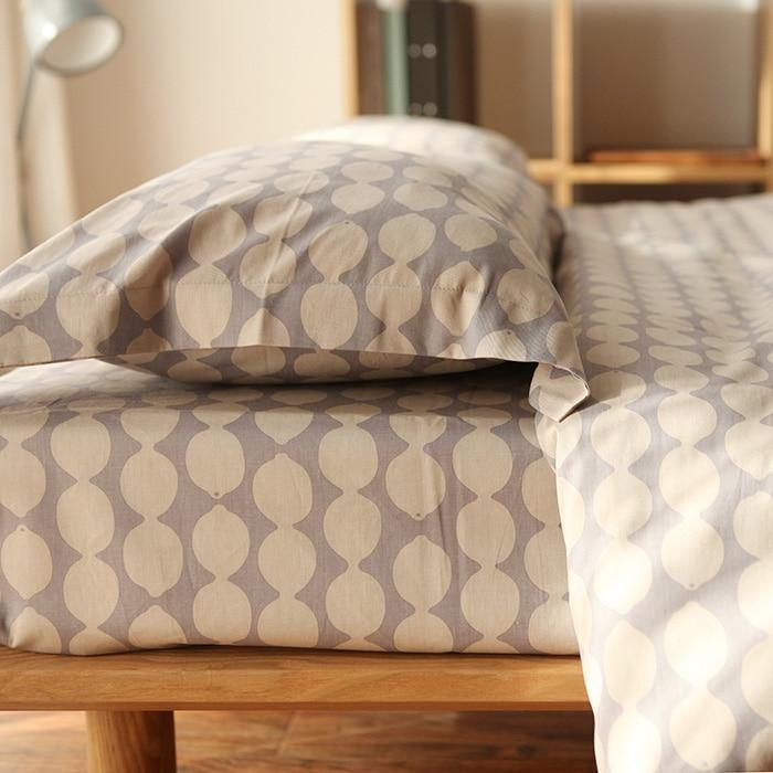 100% Algodão Impressão De Limão Japão Styel Fresco confortável conjunto de cama set capa de edredão da folha de cama/duvet cover quilt cover/fronha