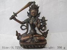 Details about  Chinese Tibet bronze Manjusri Manjushri Kwan-yin Bodhisattva Buddha Statue