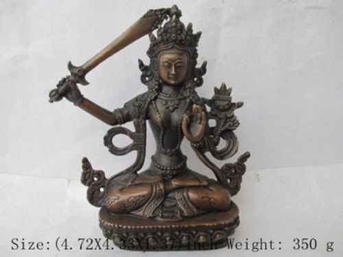 Details über Chinesische Tibet bronze Manjusri Manjushri kwan-yin Bodhisattva Buddha Statue