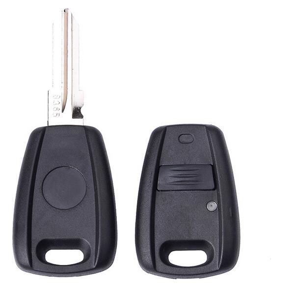 Nueva carcasa de 1 botón con mando a distancia para Fiat en negro con cubierta GT15R Fob ciego de coche 10 unids/lote