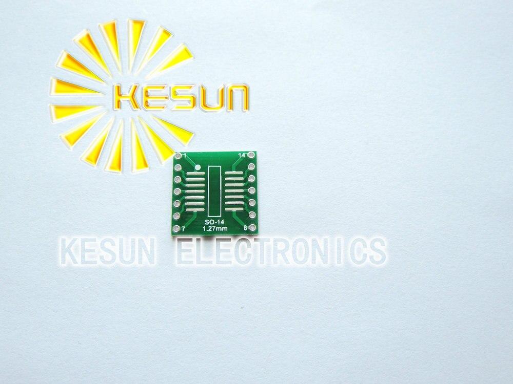 شحن مجاني 100 قطعة TSSOP14 SSOP14 MSOP14 SOP14 بدوره DIP14 14pin IC محول المقبس/محول لوحة PCB مناسبة ل IC المقبس