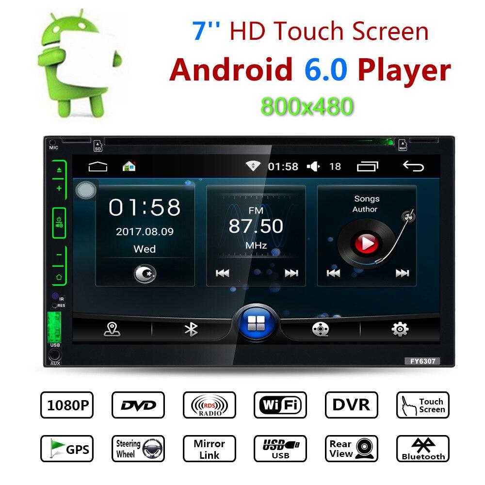 Pantalla táctil 7 pulgadas 2 Din Radio de coche GPS Android coche automotriz DVD doble Din autorradio soporte de navegación GPS cámara de visión trasera