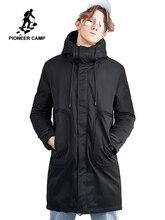 Pioneer camp nouveau hiver longue doudoune hommes marque vêtements décontracté chaud épais vers le bas parkas qualité à capuche veste manteaux AYR801437