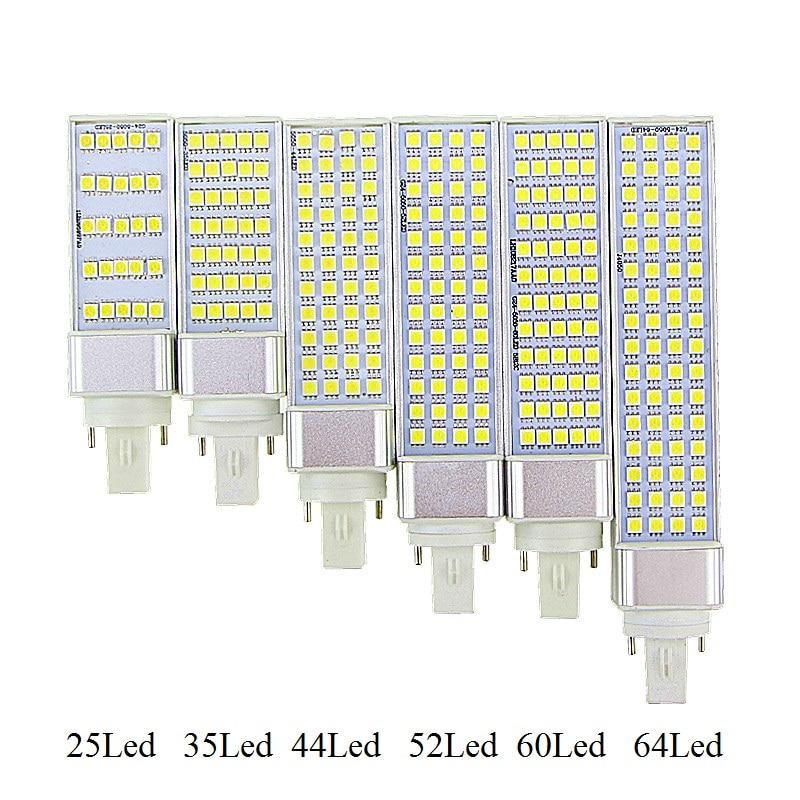 5 w/7 w/9 w/11 w/13 w/w G23 14 G24 E27 LED Horizontal Plug Luz Spotlight Bulb Lamp SMD5050 AC85-265V Branco Frio/Warm White Hot Sale