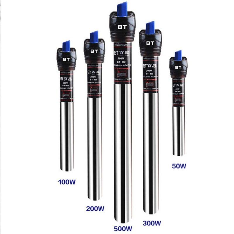 Répteis & anfíbios automáticos ajustáveis de aço inoxidável aquário aquário temperatura da água termostato aquecedor répteis & amp