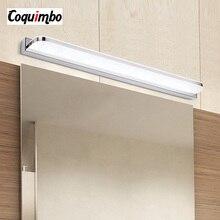 Bad Leuchte LED Spiegel Licht 42-52cm 9W/12W AC110-240V Wasserdichte Moderne Kosmetische Acryl wand Lampe