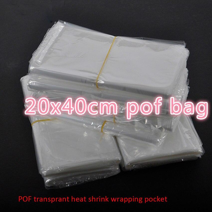 جديد وصول قمة الموضة 200 قطعة/الوحدة 20x40 سنتيمتر الحرارة شفافة يتقلص حزمة Pof هدية التعبئة أكياس بلاستيكية زجاجات مستحضرات التجميل صناديق