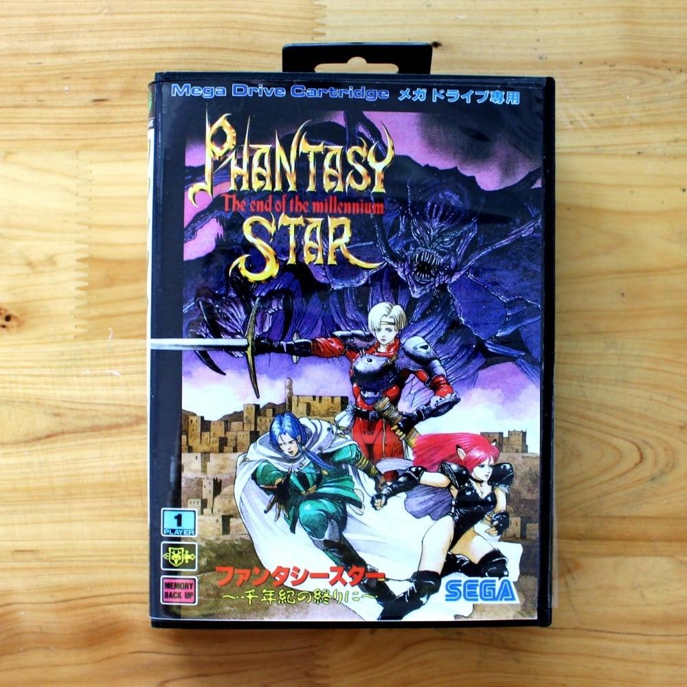 Phantasy Star-tarjeta de juego MD de 16 bits, con caja de venta...
