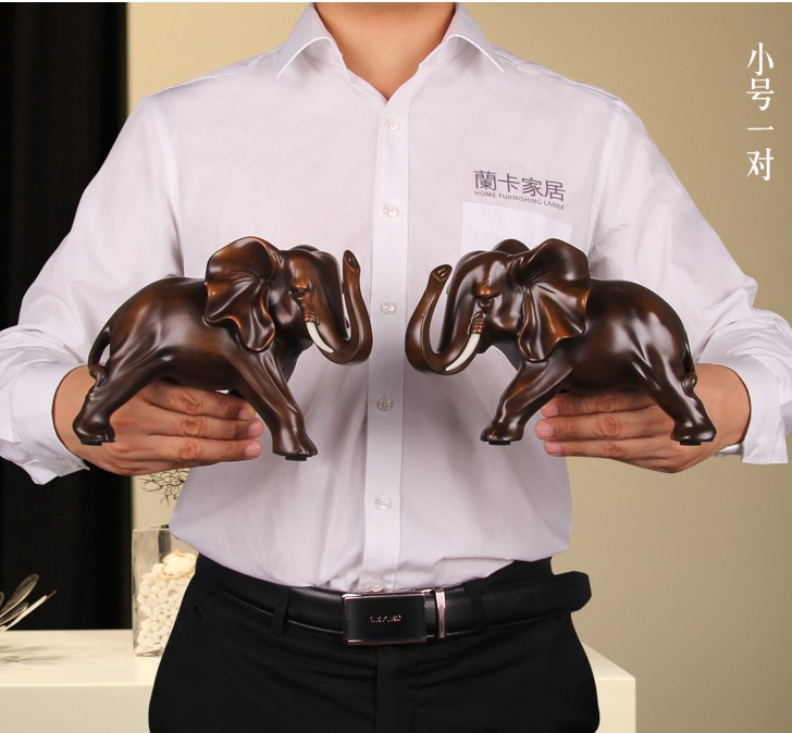 Buena oferta especial #2020 oficina en casa el trabajo de arte más bueno # hecho a mano dinero dibujo suerte FENG SHUI estatua de elefante