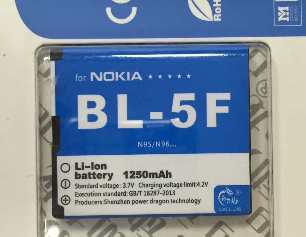 N96 N95 N98 N93i 6290 E65 BL-5F bateria para Nokia 6290 6210S/N 6710N N95 C5-01 6210i X5(00) X5-01 6210 890mAh Donglilong BL5F