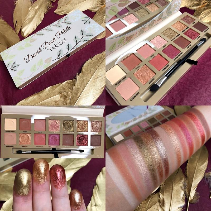 14 cores paleta de sombra shimmer matte glitter maquiagem paleta à prova dwaterproof água smoky pigmento terra quente cosméticos sombra de olho pallete