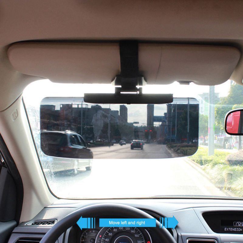 Car ABS Sun Shade Sun Visor Shield Extension Extend Driving Window Sunscreen Mirrors Window Cover Sun Visors
