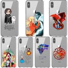Game Thrones Jon Snow Daenerys Dragon tyrion lannister غلاف هاتف من السيليكون لهاتف iPhone X SE 5 5s 6 6s Plus 7 8 Plus XS MAX XR XS
