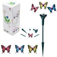 2pcs Novelty Solar Energy Flying Butterfly Toy Villa Garden Decoration Supplies Solar Toys Birthday Gift Butterfly