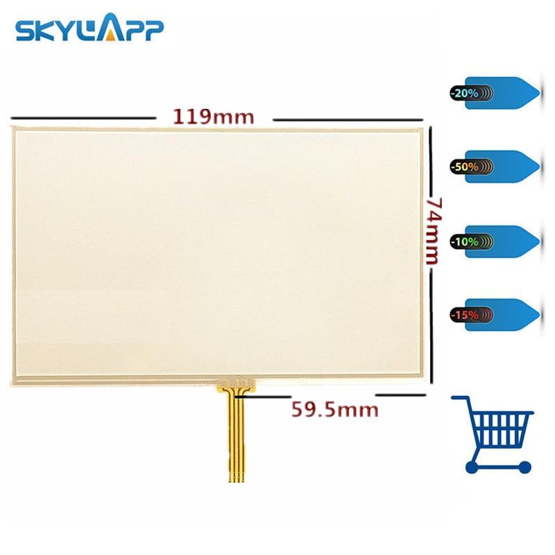 Skylarpu 10 unids/lote nueva pantalla táctil de 4,3 pulgadas para TomTom 4EQ50 Z1230 GPS digitalizador panel reemplazo envío gratis