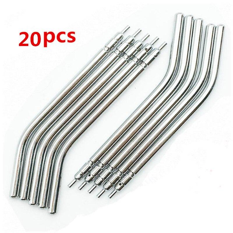 20 pçs/lote dental ar spray de água seringa tripla 3 vias bicos/dicas/tubos de aço inoxidável para handpiece dentista laboratório equipamentos