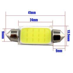Kebedemm lâmpada de led automotiva, 10 unidades, luz de seta, luz traseira, cob 31mm/36mm/39mm/41mm