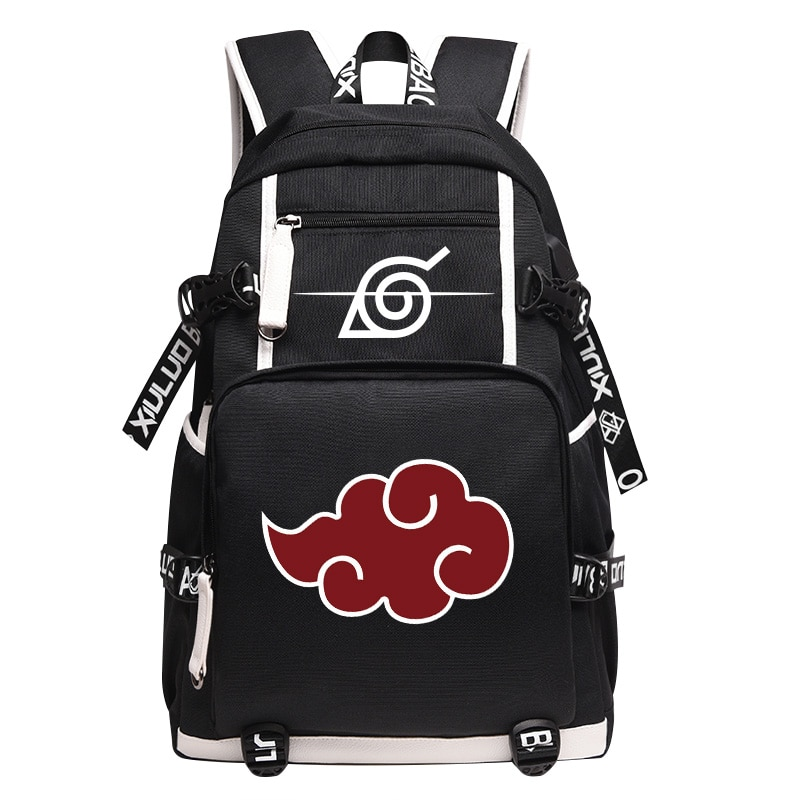 ¡Novedad de 2018! mochila Unisex de dibujos animados, bolsas con diseño de anime Naruto, mochila Akatsuki Sharingan, mochilas escolares, bolso de hombro para ordenador portátil