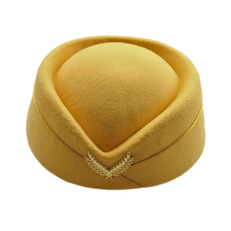 Sombreros Fedora de lana para mujer, sombrero para Azafata, sombrero azul y morado