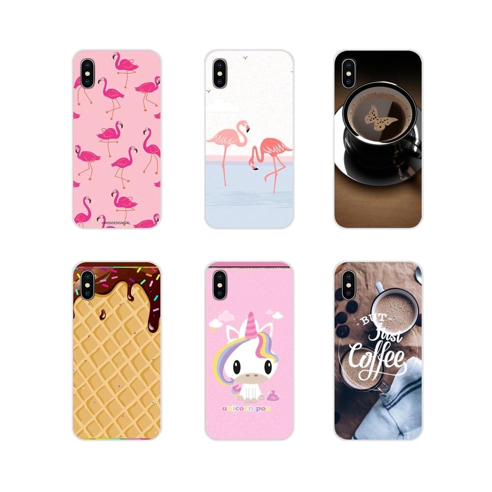 Para Xiaomi Mi6 A1 5X 6X Redmi Note 5 5A 4X 4A 4 3 Plus Pro pocophone F1 unicornio café botella de leche botella de Flamingo de hielo de la caja de la piel del teléfono
