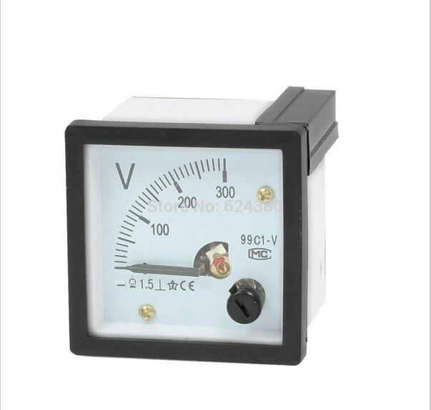 99C1 DC 0-300V 10V 20V 30V 50V 100V 150V Panel analógico voltios del voltímetro del medidor de tensión de 48mm x 48mm