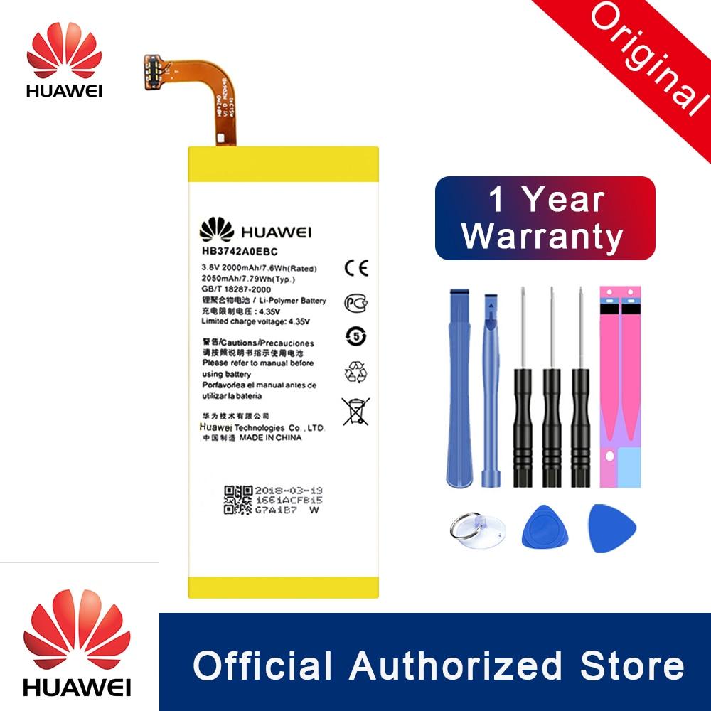Hua Wei 100% оригинал HB3742A0EBC батарея для Huawei Ascend P6 P6-U06 p6-c00/Ascend G6 G620 G621 G620s G630 Bateria Akku