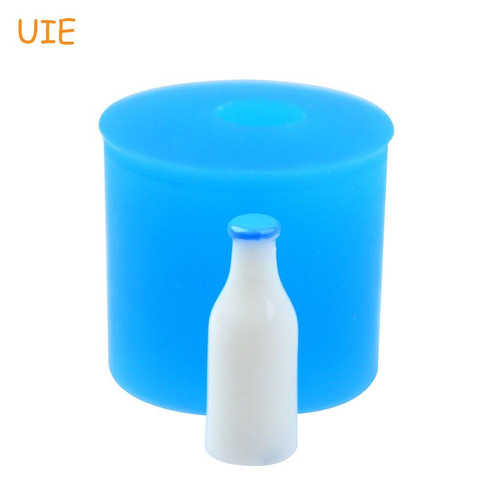 FYL580U 24,1mm 3D botella de silicona molde de empuje-Fondant, herramientas de decoración de pasteles, DIY hecho a mano, cabujón, casa de muñecas, arcilla de resina