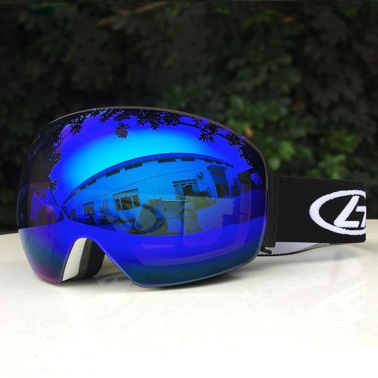 Gafas de esquí grande antiniebla, gafas de esquí, gafas de esquí de doble capa UV400, gafas de esquí para hombre y mujer, gafas de Snowboard