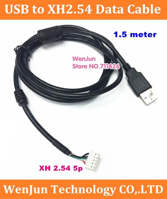 1.5m USB para XH2.54 /PH2.0 terminal 5pin Cabo de Dados para mainboard motherboard Teclado e mouse 2 pçs/lote