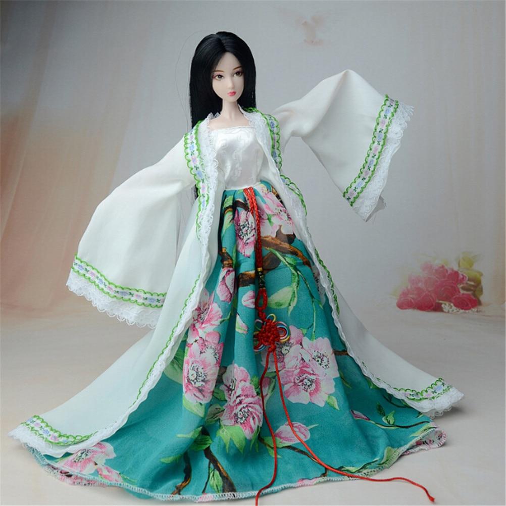 1 Uds dinastía china princesa vestido para muñeca Barbie ropa elegante muñeca tradicional 2 estilos Material tela