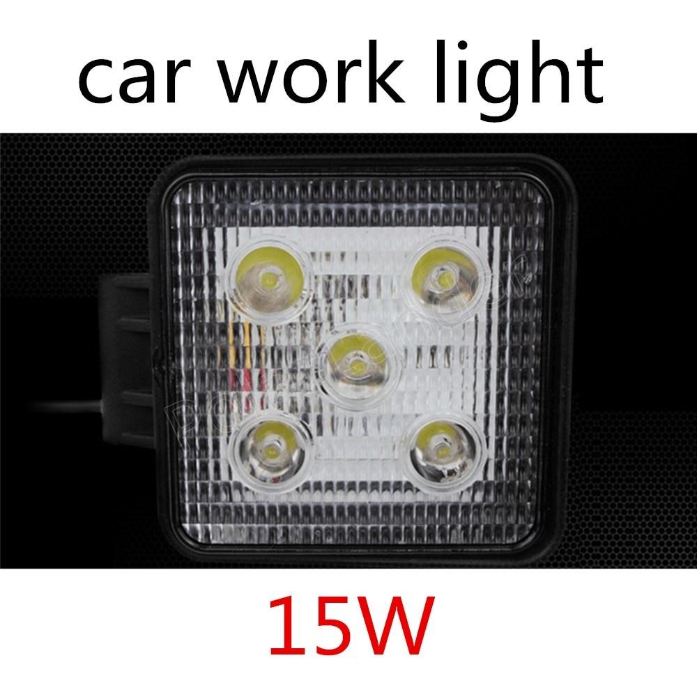 1pc de 15W LED Luz de inundación lámpara de coche camión remolque SUV Offroad barco 12V 24V proyector mejor precio de venta