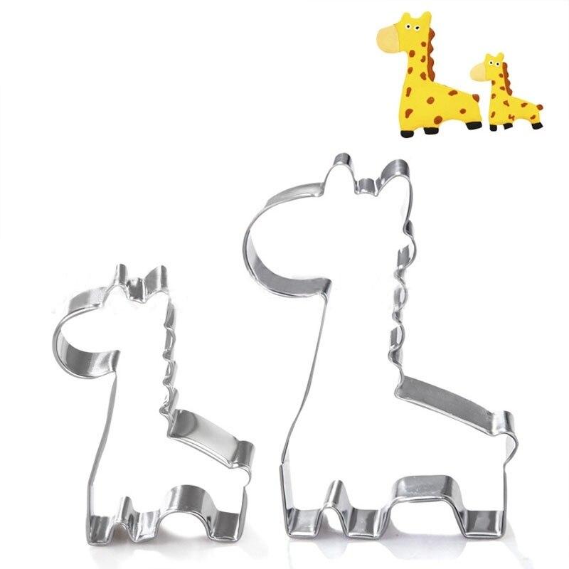 Caliente jirafa galletas molde utensilios para horno Fondant pastel molde DIY artesanía de azúcar 3D cortadores de galletas para pastelería herramientas para hornear galletas sello
