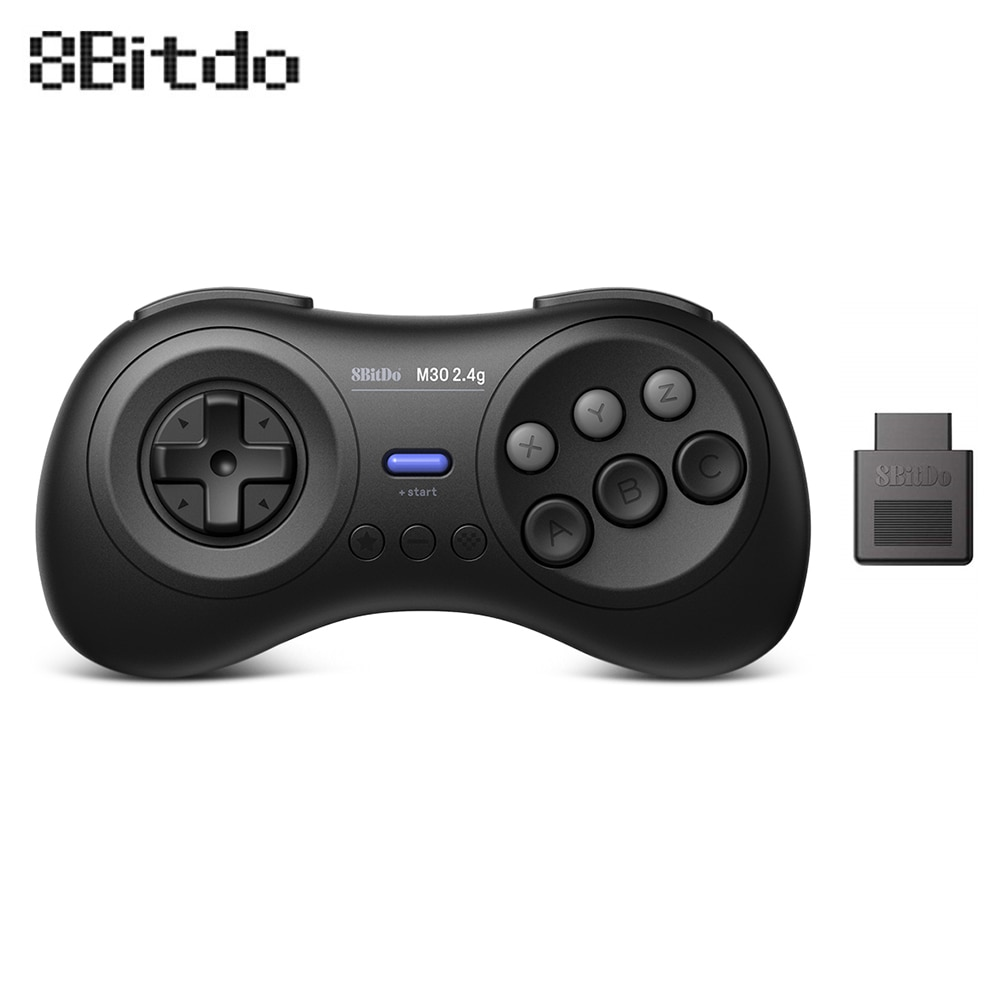 8 juegos inalámbricos BitDo M30 2,4G para las ventanas originales de los juegos Sega Genesis y Sega Mega Drive MD