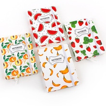 JUGAL coréen papeterie fruits cahier A5 calendrier livre Page horizontale pastèque bloc-notes journal 96 feuilles fournitures scolaires cadeau