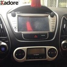 Hyundai Tucson ix35 2011 2012 2013 2014 2015   Couvercle en ABS mat de panneau de commande central, garniture daccessoires de voiture intérieurs, autocollant